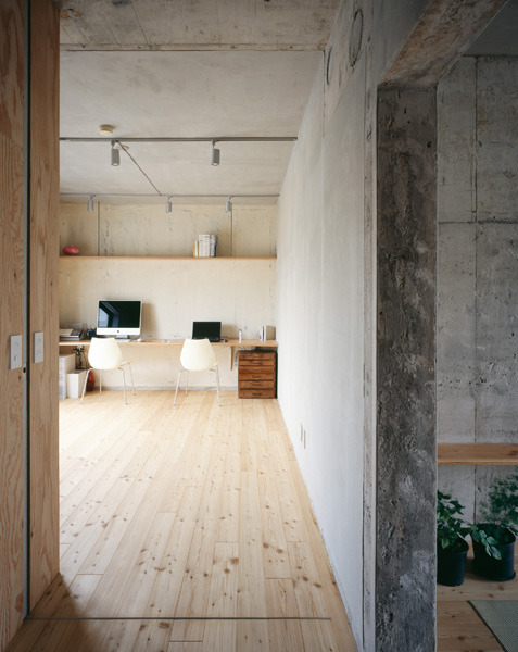 black-wolves:  (via Wood and concrete walled office | Murray Mitchell)  this should be my office
