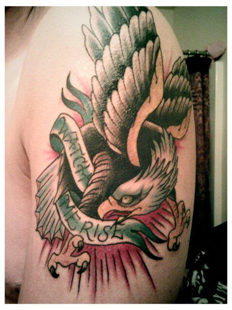 "My second tattoo. From the Have Heart song ""Watch Me Rise."" Done by Andrew at Liquid Courage - Omaha.  I think it turned out dope."