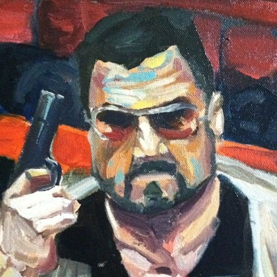 #biglebowski #art #painting #oil #oilpaint mark it zero! (Taken with instagram)