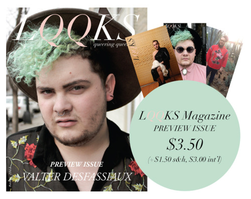 lqqksmagazine:  LQQKS Magazine: Preview Issue, is finally available for purchase!!  For only $3.50, you'll receive the magazine + 3 free postcards of queers you'll be seeing in the upcoming issue. ORDER HERE NOW  Hooray! CHICAGO IRL contributor Andy Siharath a.k.a. L.O.T.K. is ready to blow up the fashion zine world with LQQKS! Check it out!