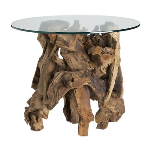 Want. No two pieces will look the same. Crate & Barrel Driftwood.Side.Table Made in Indonesia