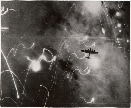 R.A.F. Raid on HamburgJanuary 30, 1943 Photograph: British Air Ministry