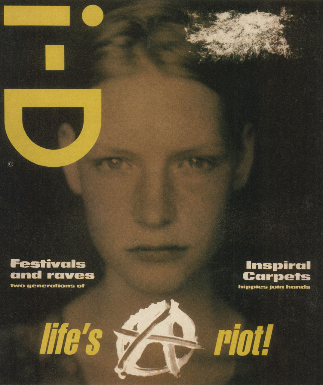 The Anarchy Issue featuring Kirsten Owen, July 1990photography paolo roversi