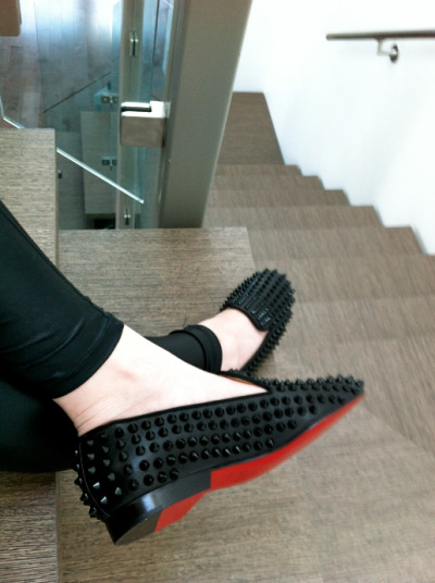 thepursuitoffashion:  Christian Louboutin spiked loafers, fashion.