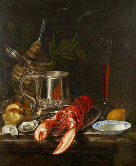 Jacob Bogdány Still Life with Lobster Late 17th - early 18th century