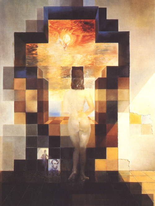 boxcircle:  Salvador Dalí, Gala Contemplating the Mediterranean Sea Which at Eighteen Metres Becomes the Portrait of Abraham Lincoln, 1976.