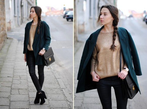 lookbookdotnu:  GOLD SWEATER (by Patrycja R)
