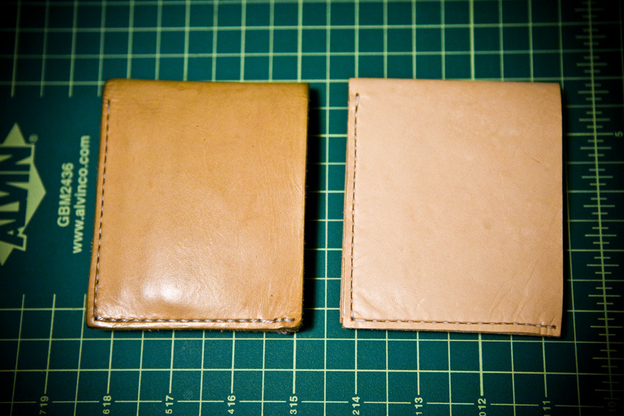 My wallet(left) after 6 months vs brand new.