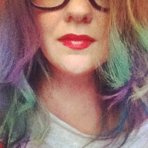 twostepsonthe:  Boredom = hair chalking (Taken with instagram)