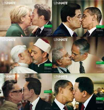 UNHATE advertising campaign by Benetton