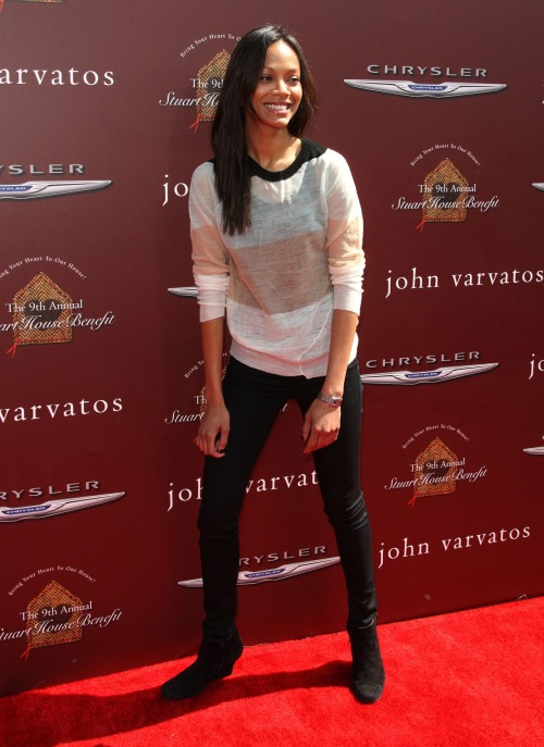 Zoe Saldana - John Varvatos 9th Annual Stuart House Benefit - March 11,2012