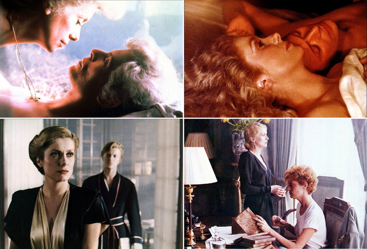 bohemea:  The Hunger When a vampiress (Catherine Deneuve) bites her victims, they're supposed to live forever. Not so for her lover (David Bowie), whose rapid aging leads him to a doc (Susan Sarandon) who specializes in such disorders. Result? The classiest lesbian sex scene in history. - Out Magazine's 5 Gay Horror Flicks, March 2011