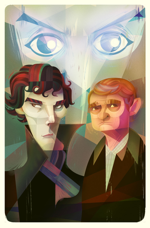 Late night Sherlock fan-art session…