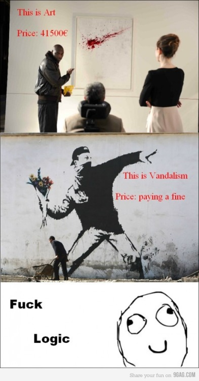 9gag:  Art and Vandalism