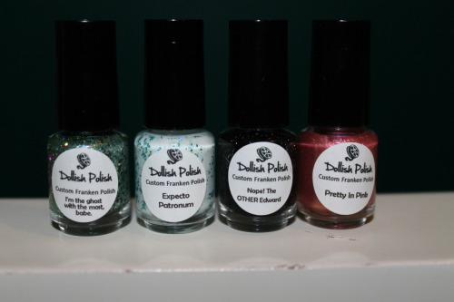 Got my dollish polishes in the mail today. Super pumped to try these out!
