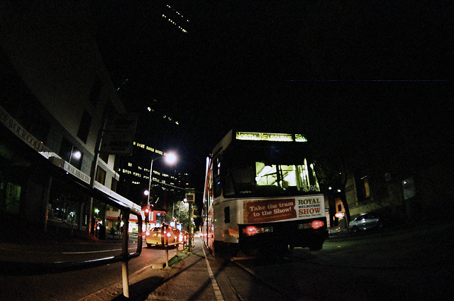 Tram At Night, Melbourne, Australia