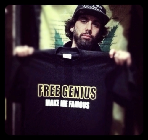 FREE GENIUS.Shirt for one of the 5 of my upcoming music videos. Last pic with my long hair as well.