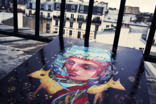 Little painting in Paris For an exhibition in Bergen, Norway, with Goblin Mag http://www.bergenkjott.com/