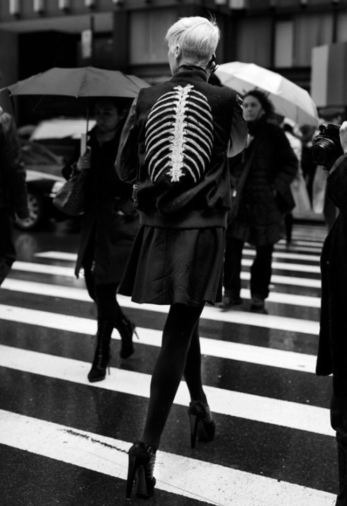 ribcage jacket The Sartorialist
