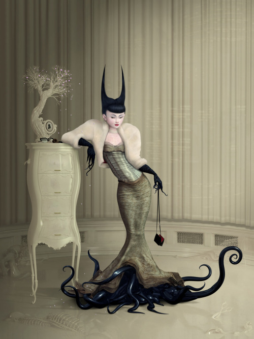 Silent Partner - digital painting by Ray Caesar