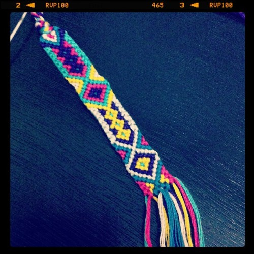 Something fun! #diy #friendshipbracelet #friendshipbracelets  (Taken with instagram)