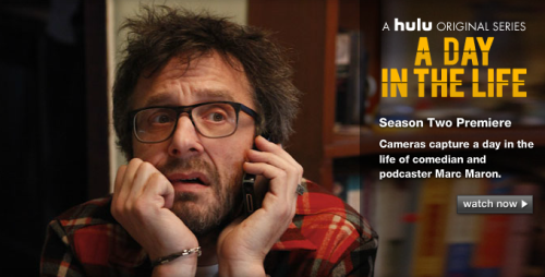 comedynerdsunited:  somuchfunithurts:  A Day In The Life: Marc Maron  Not bad for a monday.