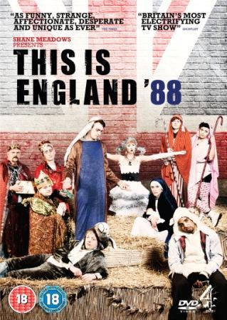 "4DVD presents This is England '88 Directed by Shane Meadows  Written by Shane Meadows and Jack Thorne  Out on DVD and Blu-ray 12th March 2012   REBLOG THIS POST TO BE IN WITH A CHANCE TO WIN A COPY  (winners chosen 19th March) . Renowned filmmaker Shane Meadows (This Is England, Dead Man's Shoes, Somers Town) follows up the explosive Bafta award-winning This Is England '86 with his third incarnation, THIS IS ENGLAND '88, available on DVD and Blu-ray from 12th March 2012. . They say Christmas is a time for forgiving and for forgetting, a time of love and laughter and joy ever after, and with echoes of A Christmas Carol, Shane Meadows take us to places we never thought we'd go.  When all hope seems lost, what peace is there to be found?  . And while Cliff Richard may have been at No. 1 during the festive season of '88 with Mistletoe and Wine, will it be a time for trusting and no deceiving, a time of love and laughter and joy ever after? . This is Christmas. This is England style. ""A bit like Al Pacino in Godfather III. Just when I think my love affair with This Is England is over, it pulls me back in"" Shane Meadows . THIS IS ENGLAND '88, written by Shane Meadows and Jack Thorne (The Scouting Book for Boys, Skins), pulls together story threads from the highest rated original drama series ever launched by C4, This Is England '86, to produce a superb combination of uproarious comedy and desolate, gritty drama.  . Described by Meadows as ""A truly British Christmas; an anti-climax. A bit nice, with some horrible shit mixed in"" '88 may not be looking so festive for some…. Haunted by the devastating events that took place 18 months ago, Lol (Vicky McClure) and Woody (Joe Gilgun) both find themselves struggling to cope with the emotional fallout.  Lol soon finds her reserves of strength ebbing away as she struggles to deal with new responsibilities and past haunts. With her soul mate Woody, heartbroken from her betrayal and in self-imposed exile from the gang, Lol becomes increasingly isolated and alone. . And they're not the only ones lacking in festive spirit, as Shaun (Thomas Turgoose) learns the hard way, just how much love hurts. . Set over three hour-long films, THIS IS ENGLAND '88 leaves the way clear for a new series of This Is England '90, which is currently in development. . Packed full of never-seen-before deleted scenes, exclusive behind-the-scenes footage and commentaries from key cast and crew, THIS IS ENGLAND '88 is available to own on DVD & Blu-ray from 12th March 2012."