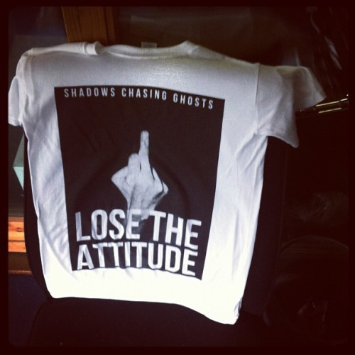 #LosetheAttitude tee's arrived today from @smalltownuk today! If you've ordered a bundle, the wait's almost over! (Taken with instagram)