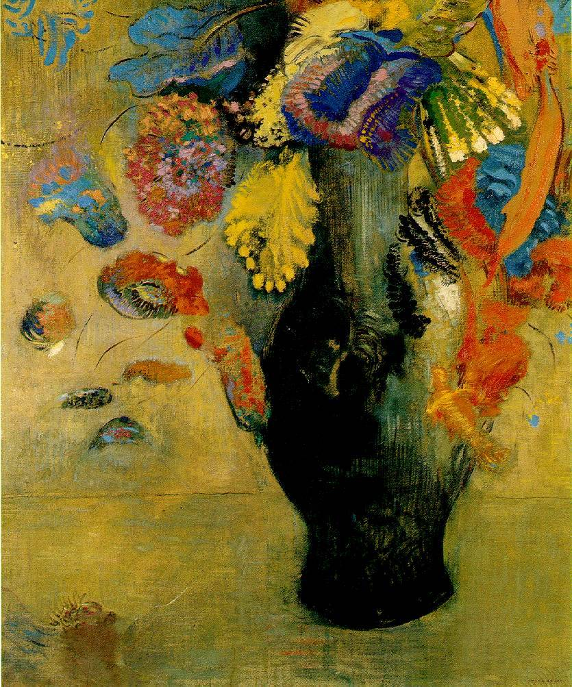 artpedia:  Odilon Redon - Flowers, 1903. Oil on canvas