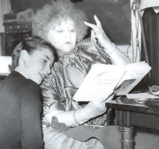 awesomepeoplereading:  Colette and Audrey Hepburn read.