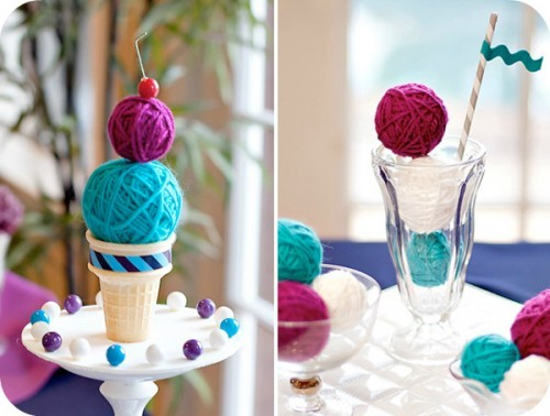 Cute ice cream yarns