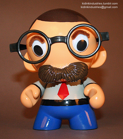 "- Pops Mc'Munny - 7"" Custom (KidRobot) Munnycustom resin and sculpted parts combined with a 7"" platform toy assembly,plus various paints and adhesives  by: Kris Dulfer©2011,2012   **private commission**"