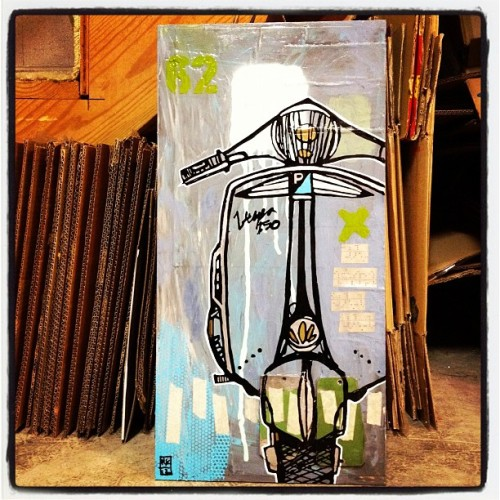 Vespa painting (via aaronkraten)