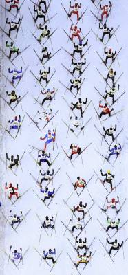 nationalpostsports:  An aerial view shows cross-country skiers