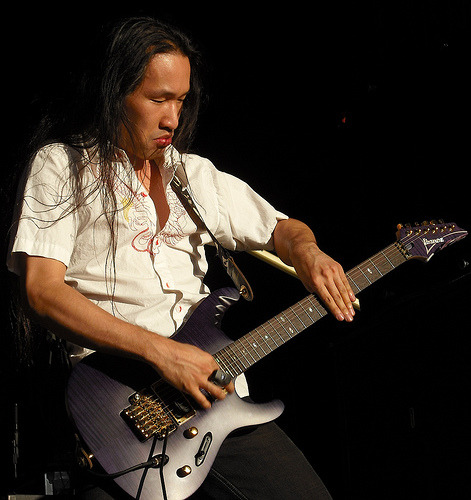 Li Kang Min AKA Herman Li of Dragonforce, playing since 1993-Present.