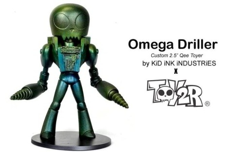 "- Omega Driller -` 7"" + 5"" Custom McFarlane + Toy2r Qee custom resin and sculpted parts combined with:7"" Spawn platform toy and 5"" Toy2r 'Toyer' Qee plus various paints and adhesives  by: Kris Dulfer©2011,2012  as seen at: - White Star Bar; Kris Dulfer's Alchemy in Plastic and Vinyl: Art Toy Showcase (06-2011) - New York Comic Con 2011. - www.Toy2rusa.com (for custom wednesdays) **sold to a private collector**"