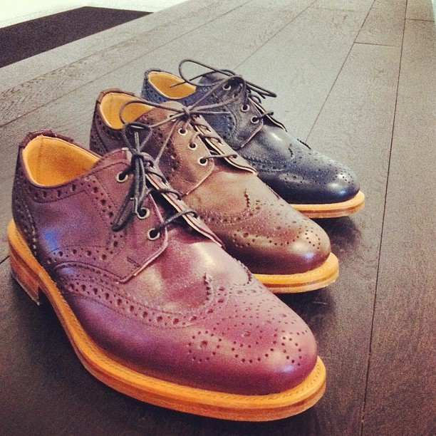 We're looking forward to stepping out in these new Oliver Spencer brogues, arriving on site tomorrow. Which colour would you go for? (Taken with instagram)