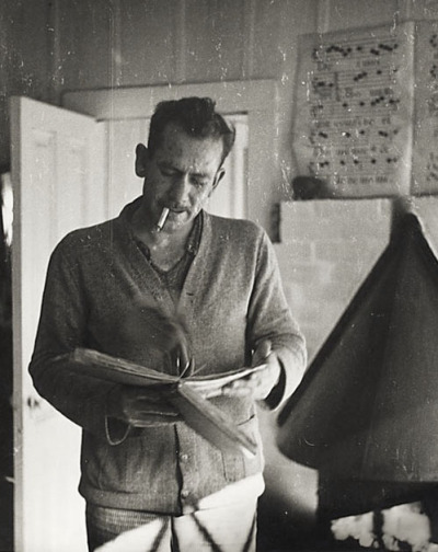 nevver:   Six Tips on Writing from John Steinbeck Abandon the idea that you are ever going to finish. Lose track of the 400 pages and write just one page for each day, it helps. Then when it gets finished, you are always surprised. Write freely and as rapidly as possible and throw the whole thing on paper. Never correct or rewrite until the whole thing is down. Rewrite in process is usually found to be an excuse for not going on. It also interferes with flow and rhythm which can only come from a kind of unconscious association with the material. Forget your generalized audience. In the first place, the nameless, faceless audience will scare you to death and in the second place, unlike the theater, it doesn't exist. In writing, your audience is one single reader. I have found that sometimes it helps to pick out one person—a real person you know, or an imagined person and write to that one. If a scene or a section gets the better of you and you still think you want it—bypass it and go on. When you have finished the whole you can come back to it and then you may find that the reason it gave trouble is because it didn't belong there. Beware of a scene that becomes too dear to you, dearer than the rest. It will usually be found that it is out of drawing. If you are using dialogue—say it aloud as you write it. Only then will it have the sound of speech.  God damn, that's why he's a master