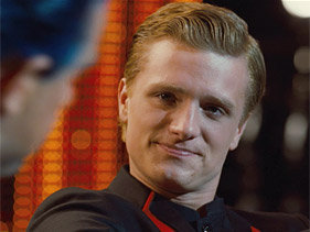 "WATCH NOW: A video clip from Peeta's interview with Caesar … ""I came here with her."""