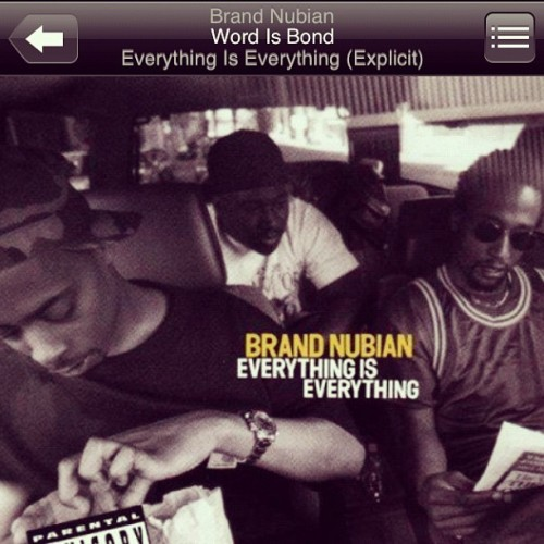 "#NP Brand Nubian "" word is bond "" #5% #fivepercenter #truschool #goldenera #hiphop 📻💽 (Taken with instagram)"