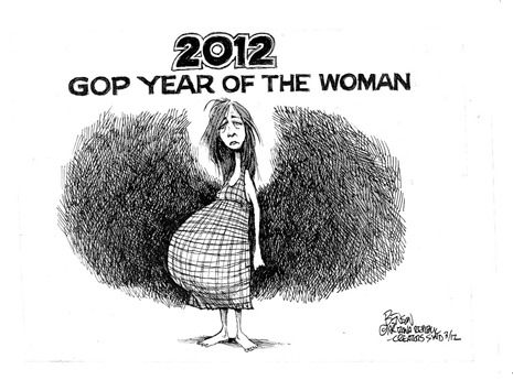 randomactsofchaos:  Steve Benson/Arizona Republic (03/11/2012)   This about sums up The GOP's version of the perfect woman.