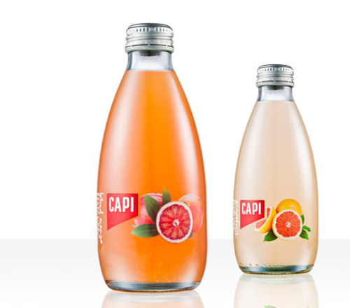 theemspace:  Packaging Monday: Capi sparkling fruit soda by CIP Creative