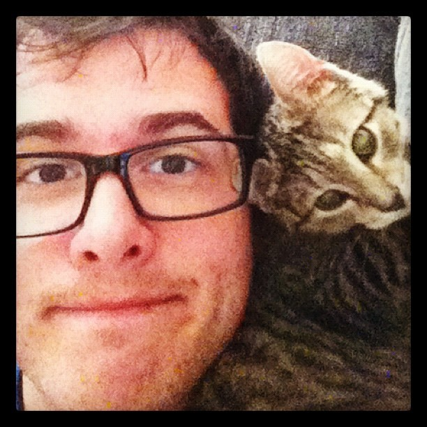me and my cat scarf.  (Taken with instagram)