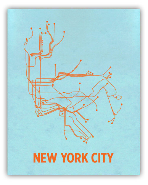 Lineposters – gorgeous minimalist maps of iconic subway systems.