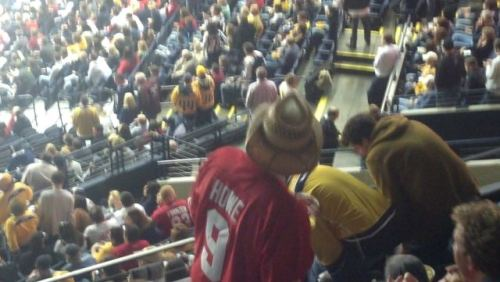 THIS JUST IN! Thanks to reader Jeff, here's a lost Cowboy Hat photo from Saturday night. I think it's the same dude in the last photo of the original photoset, but… what the hell, we'll go ahead and post it. Enjoy!