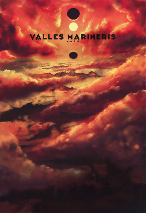 ron-guyatt:  Valles Marineris - Mars - Poster by Ron Guyatt Deviant Art || My Store || Facebook || Twitter || Flickr A Fantasy Digital Painting.
