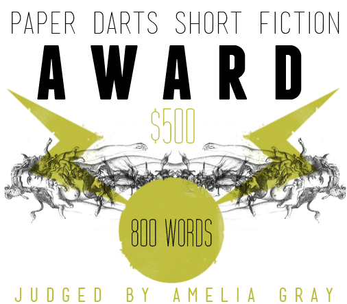 Attention fiction writers! Our own Amelia Gray, author of THREATS, is judging the Paper Darts Short Fiction Award.