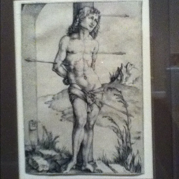 whateverlizzie:  St Sebastian by Durer (Taken with instagram)