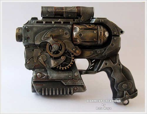Steampunk Ray gun 3 by ~Diarment