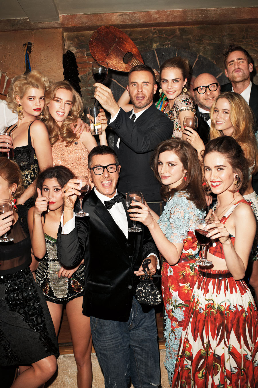 London's It Girls Dine with Dolce & Gabbana Terry Richardson, April 2012